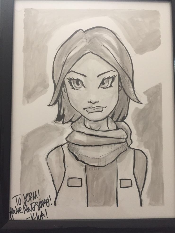 Jyn Eros commission drawn by Brian Kwa